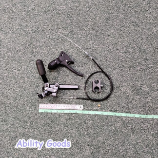 right hand brake assembly with top lockdown brake and lower handbrake for spares
